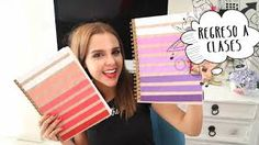 Resultado de imagen para portadas de libretas faciles de hacer super chic Diy Notebook, Bookbinding, School Supplies, Back To School, Diy And Crafts, Diy Projects, Crafty, Cool Stuff, Youtube
