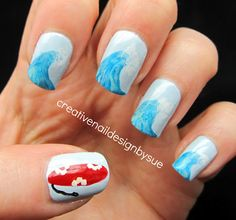 Creative Nail Design by Sue: Summer Fun Challenge-The Big Blue