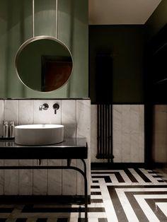 Olive Green Bathroom Decor Ideas For Your Luxury Bathroom – Diy Badezimmer Green Bathroom Decor, Bathroom Interior Design, Modern Interior Design, Small Bathroom, Bathroom Ideas, Bathroom Art, Bathroom Black, Bathroom Colors, Bathroom Designs
