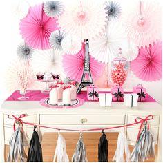 Parisian Birthday Party Ideas - Birthday Party Ideas for Kids and Adults Parisian Birthday Party, Paris Birthday Parties, Paris Party, Sweet 16 Birthday, Birthday Party Themes, Birthday Ideas, Paris Theme, 13th Birthday, Paris Rosa
