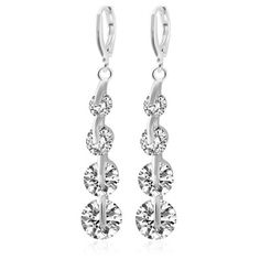 2.9$  Watch now - http://diabf.justgood.pw/go.php?t=182338101 - Pair of Rhinestone Long Clip Earrings