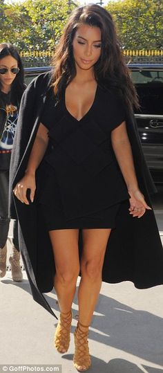 Kim Kardashian reveals sideboob in plunging minidress as she steps out in Paris | Daily Mail Online