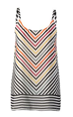 Discover cabi's Linea Cami in a lightweight poly chiffon that looks especially cute with a front tuck.
