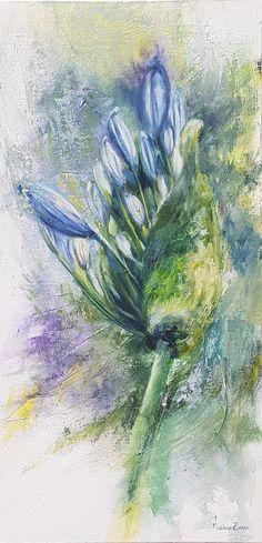 MANY BEAUTIFUL REASONS. Oil 60x30cm.  It is always a lovely idea to bloom. artist. Mariana Zwaan