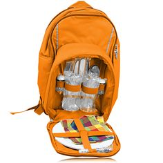 2-Person Insulated Picnic Backpack has 2 sets of stainless steel knifes, 2 sets of fork spoon, 2 goblet, 2 cloth napkins, 2 melamine plates, 1 butter knife, 2 salt pepper caster, 1 multi-function bottle opener. More Info: http://avonpromo.com/person-insulated-picnic-backpack-p-8650.html