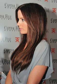 Kate Beckinsale hair color, cut and style ..for when i decide to dye my hair after the wedding!