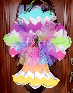 Easter door hanger, Easter cross, Easter door decor