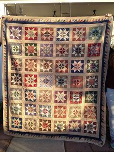 Civil War quilt using reproduction fabric