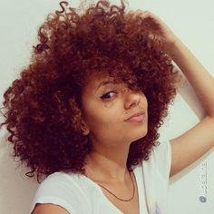 That fro though! Love the colour @Luana Batalha