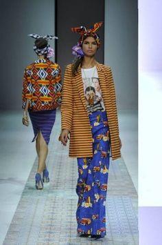 Stella Jean - some more bold print choices, pretty wearable though Stockholm Fashion Week, Milano Fashion Week, Milan Fashion, Turban, Barcelona Fashion, Stella Jean, 2014 Trends, African Fashion, African Style