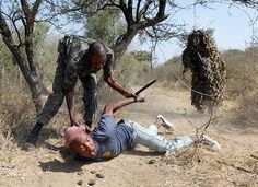 Catching a rhino poacher in a South African game reserve. They deserve life imprisonment!