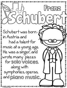 Classical Composers Coloring and Fact Sheets Piano Lessons, Music Lessons, Music Education, Education Quotes, Physical Education, Compositor Musical, Ingles Kids, Music Worksheets, Music Composers