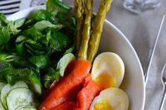 Composed Salad of Smoked Salmon, Cucumber, Mâche, Egg, and Asparagus Recipe on Food52 recipe on Food52