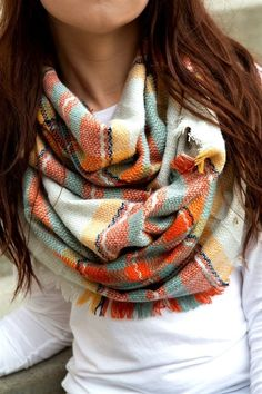 If you send a scarf, I like infinity scarves - I have a plaid one like this, but another color would be nice!