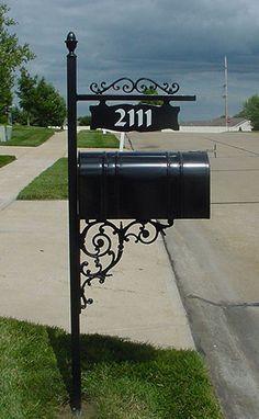 iron mailbox post - Google Search