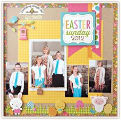 Easter Sunday Layout by Tya Smith