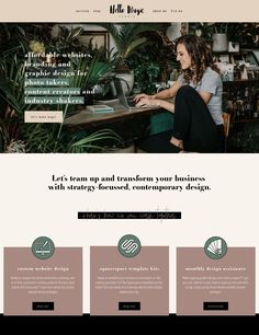 50 example Squarespace websites built by Square Secrets course students — Paige Brunton Website Design Inspiration, Simple Website Design, Site Web Design, Web Design Trends, Beautiful Website Design, Creative Web Design, Website Templates, Template Web, Layout Design