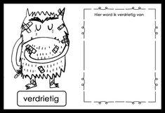 Werkboekje: Thema Het kleurenmonster - SEO/Emoties Teaching Emotions, Growth Mindset, Coaching, Classroom, Feelings, Creative, Monsters, Activities, Colors