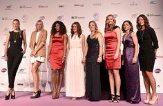 Victoria Azarenka, Maria Sharapova, Serena Williams,  Agnieszka Radwanska, Angelique Kerber, Petra Kvitova, Sara Errani and Li Na at 2012 WTA Tour Championships in Istanbul