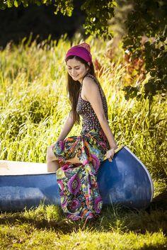 Gudrun Sjödéns Sommerkollektion 2014 - Der Badeanzug, auch in XXL erhältlich, ist ein klassisches Modell mit etwas breiteren Trägern, Unterbrustnaht und U-förmigem Rückenausschnitt.