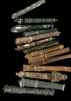 "needles cases, from ""Ouvrages de Dames,"" Frédérique Crestin-Billet, Sajou"