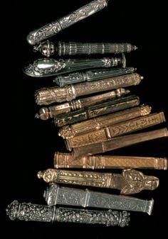 """needles cases, from """"Ouvrages de Dames,"""" Frédérique Crestin-Billet, Sajou"""