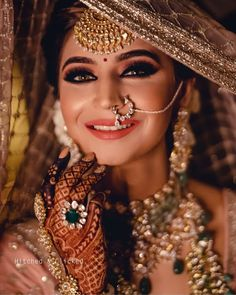 Fashion Beauty Lifestyle : 51 Most Beautiful Indian Bridal Makeup Looks and C. Indian Wedding Couple Photography, Indian Wedding Bride, Indian Wedding Makeup, Indian Bride Poses, Indian Wedding Jewellery, Funny Couple Photography, Mehendi Photography, Bridal Hairstyle Indian Wedding, Pakistani Bridal Makeup