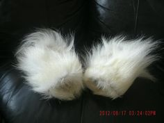 Inuit made women's polar bear mitts by Leelee Kakkee