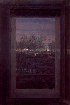 Window at Evening - Antonio López Garcia , 1971-80 Spanish,b.1936- Oil on canvas Bilbao Fine Arts Museum, Spain