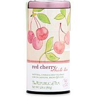 """One of Republic of Tea's """"Sip for the Cure"""" flavors - Red Cherry White Tea - love!"""