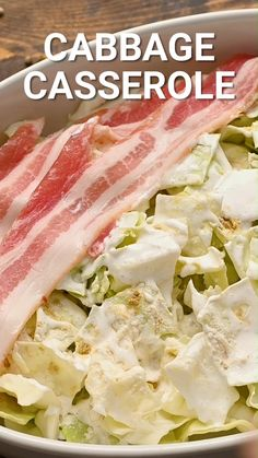 Creamed Cabbage, Cabbage And Bacon, Cooked Cabbage, How To Cook Cabbage, Steak Side Dishes, Side Dishes Easy, Cabbage Casserole, Casserole Dishes, Crockpot Cabbage Recipes