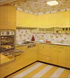 yellow kitchen.
