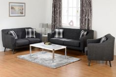A two seater fabric sofa finished in Dark Grey - http://www.furn-on.com/ashley-2-seater-sofa.html