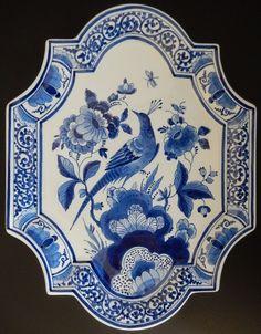 Great Porceleyne Fles Delft mural wall plaque