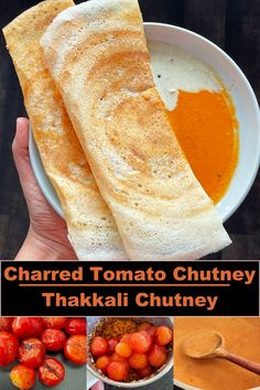 A delicious and flavorful chutney made from the charred tomatoes ! Perfect to have with idli and dosa varieties ! Chutney Varieties, Tomato Chutney, Breakfast Menu, Chutney Recipes, Vegetarian Recipes, Spices, Cooking, Food Food, Tomatoes