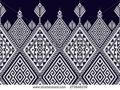 Abstract ethnic geometric pattern design for background or wallpaper.  - stock…