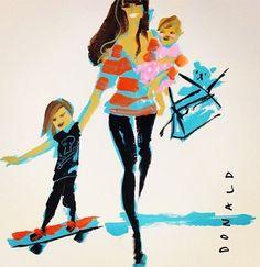 """Fashion illustration by Donald """"Drawbertson"""" Robertson, 2014."""