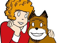 """""""All these years I waited in vain for the artist to draw pupils in Little Orphan Annie's eyes!""""(Bullwinkle)"""