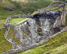 Stairs to Tintagel Castle Remains, Cornwall, England;  steeped in legend and mystery – said to be the birthplace of King Arthur, and is featured in the tale of Tristan and Isolde