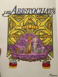 Coloriage Artdeco les classiques Disney - Les aristochats