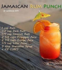 Jamaican Rum Punch #caribbeanbtv #jamaicanculture #jamaica #MontegoBay #negril #ochorios