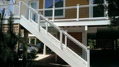 Vinyl and Glass Railing System by Atlantic Aluminum Products