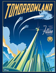 """The Disney Store has three retro style 'Tomorrowland' prints by Eric Tan, Alex Rieger-Waters and Stacey Aoyama. They are 15"""" x 12"""" prints and cost $14.95 each."""