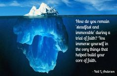 Remain steadfast and immovable during a trial of faith.