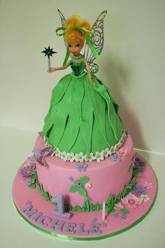 Tinkerbell cake, doll cake