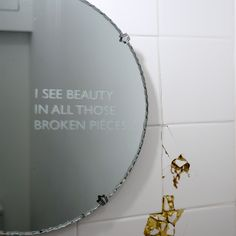 I see beauty in all those broken pieces mirror #gold #cracked #mirror #mirrorinspo #kintsugi #hollyandco #perfectlyimperfect