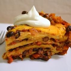 Crockpot Mexican Lasagna by TheFoodieArmyWife