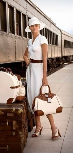 Photo via Ralph Lauren classic white dress and spectator pumps. Love spectator pumps for women!! So sophisticated!