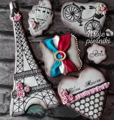 Paris france eiffel tower bicycle heart