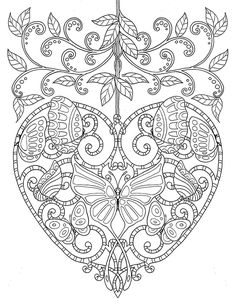 23 Of the Best Ideas for Adult Coloring Pages Hearts . Coloring pages are no more just for youngsters. Coloring books are selling well in the grown-up market. Heart Coloring Pages, Butterfly Coloring Page, Colouring Pics, Animal Coloring Pages, Coloring Pages To Print, Coloring Sheets, Coloring Books, Coloring Pages For Grown Ups, Fairy Coloring